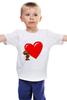 """Детская футболка классическая унисекс """"bear heart """" - heart, bear, bear heart"""