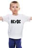"""Детская футболка классическая унисекс """"AC/DC"""" - ас дс, acdc"""