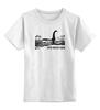 """Детская футболка классическая унисекс """"Nessy Black"""" - плавание, марафон, открытая вода, триатлон, nessy"""