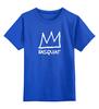 """Детская футболка классическая унисекс """"Basquiat"""" - граффити, корона, улица, basquiat, баския"""