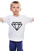 """Детская футболка классическая унисекс """"Стерео Бриллиант"""" - style, подарок, swag, стерео, бриллиант, diamond"""