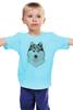 """Детская футболка классическая унисекс """"хаски"""" - собака, иллюстрация, хаски, акварель, husky"""