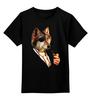 """Детская футболка классическая унисекс """"Одноглазый волк"""" - животные, иллюстрация, волк, wolf"""