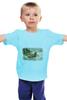 """Детская футболка """"салазки"""" - новый год, new year"""