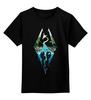 """Детская футболка классическая унисекс """"Skyrim"""" - игры, skyrim, tes, скайрим, the elder scrolls"""