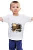 """Детская футболка классическая унисекс """" холодный зимний вечер в лесу"""" - природа"""