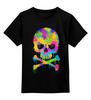 """Детская футболка классическая унисекс """"Череп (Skull)"""" - lsd, лсд, психоделик"""