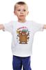 """Детская футболка классическая унисекс """"PЯIVET!"""" - юмор, авторские майки, россия, патриотизм, стёб"""