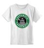 """Детская футболка классическая унисекс """"Daleks (Starbucks)"""" - доктор кто, starbucks, старбакс"""