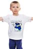 """Детская футболка классическая унисекс """"Happy New Year! Bag"""" - happy new year, новый год, new year, снеговик, snowman, 2015"""