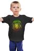 """Детская футболка классическая унисекс """"Лев Космонавт"""" - лев, абстракция, царь зверей, космонавт"""