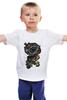 """Детская футболка классическая унисекс """"многоглазая сова пират"""" - череп, птица, сова, owl, пират"""