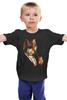 """Детская футболка """"Одноглазый волк"""" - животные, иллюстрация, волк, wolf"""