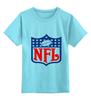 """Детская футболка классическая унисекс """"NFL"""" - авторские майки, американский футбол, american football, нфл"""