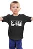 "Детская футболка классическая унисекс ""Zombie Obey"" - zombie, зомби, dead, мертвец, повинуйся"
