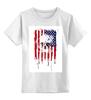 """Детская футболка классическая унисекс """"Американский череп"""" - skull, череп, америка, usa, флаг"""