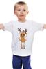 """Детская футболка классическая унисекс """"""""Подслушано"""""""" - олень, deer, подслушано, pixelation, pixelated"""