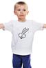 """Детская футболка классическая унисекс """"Зайчик)))"""" - авторские майки"""
