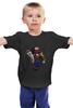 """Детская футболка классическая унисекс """"Марио и принцесса"""" - принцесса, nintendo, марио, super mario"""