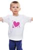 """Детская футболка классическая унисекс """"""""LOVE"""""""" - праздник, сердце, любовь, розовое, девушке, девочке, сердечки"""
