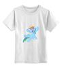 """Детская футболка классическая унисекс """"My little pony- Rainbow Dash"""" - pony, rainbow dash, mlp, пони, радуга дэш"""