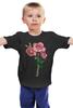 """Детская футболка классическая унисекс """"розы"""" - цветы, акварель, розы"""