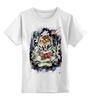 """Детская футболка классическая унисекс """" Тигр Old School"""" - tiger, тигр, old school, тату"""