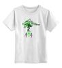 """Детская футболка классическая унисекс """"Green 1"""" - green, спираль, графика, дерево, tree, tm kiseleva"""