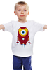 """Детская футболка классическая унисекс """"миньон-железный человек"""" - необычно, мультфильм, креатив, железный человек, миньон"""