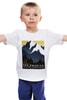 """Детская футболка классическая унисекс """"Америка ретро постер"""" - арт, ретро, америка, горы, постер"""