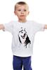"""Детская футболка классическая унисекс """"хаски"""" - искуство, хаски, собаки, husky, оригенально"""