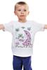 """Детская футболка """"good morning"""" - арт, цветы, рисунок, good morning"""