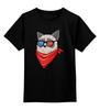 """Детская футболка классическая унисекс """"Угрюмый кот"""" - кот, мемы, grumpy cat, угрюмый кот"""