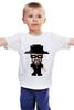 """Детская футболка классическая унисекс """"Уолтер Уайт (8 бит)"""" - во все тяжкие, pixel art, 8 бит, breaking bad, уолтер уайт"""