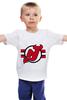 """Детская футболка классическая унисекс """"Нью-Джерси Девилс"""" - хоккей, nhl, нхл, нью-джерси девилс, new jersey devils"""