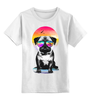 """Детская футболка классическая унисекс """"Солнечный Мопс"""" - pug, солнце, собака, мопс"""