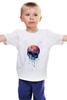 "Детская футболка ""Bleeding skull"" - skull, череп, apple"