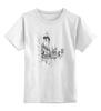 """Детская футболка классическая унисекс """"Прага"""" - графика, чб, путешествия, прага"""