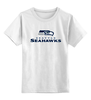 "Детская футболка классическая унисекс ""Seattle Seahawks"" - орел, nfl, американский футбол, seattle seahawks"