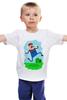 "Детская футболка ""Марио (Mario)"" - nintendo, mario, марио, грибочек"