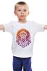 """Детская футболка """"Injuns"""" - череп, узор, солнце, цвет, сова, яркий, перья, индейцы, тамагавк"""