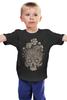 """Детская футболка """"Цветочный череп"""" - skull, череп, цветы"""