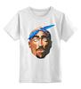"""Детская футболка классическая унисекс """"Тупак (2pac)"""" - rap, тупак, тупак шакур, tupac, 2 pac"""