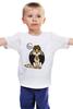 """Детская футболка классическая унисекс """"Будь счастлив"""" - кот, счастье, be happy, будь счастлив"""