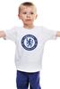 """Детская футболка классическая унисекс """"Chelsea FC"""" - футбол, челси, chelsea"""