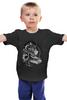 """Детская футболка классическая унисекс """"Black-white Lion """" - арт, king, лев, король, lion, black n white"""
