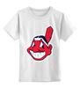 """Детская футболка классическая унисекс """"Indians"""" - бейсбол, cleveland, chief wahoo, major league baseball"""