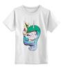 """Детская футболка классическая унисекс """"Princess Celestia"""" - корона, дружба, pony, mlp, my little pony, пони, magic, селестия, unicorn, friendship"""