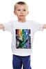 """Детская футболка """"самая темная ночь"""" - comics, мультфильм, комиксы, green, кино, зеленый, мульт, фонарь, lantern, green lantern"""