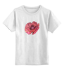 """Детская футболка классическая унисекс """"Стилизованный  винтажный арт-цветок"""" - арт, авторские майки, цветы, узор, стиль, flower, рисунок, винтаж, мак, poppy"""